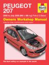 Haynes Workshop Manual Peugeot 207 Petrol & Diesel (06-July 09) 06 to 09